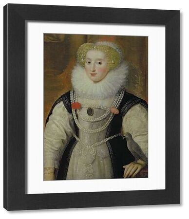 BAL99924 Portrait of an Elizabethan Lady with a Parrot (oil on canvas) by English School, (16th century); Private Collection; English, out of copyright