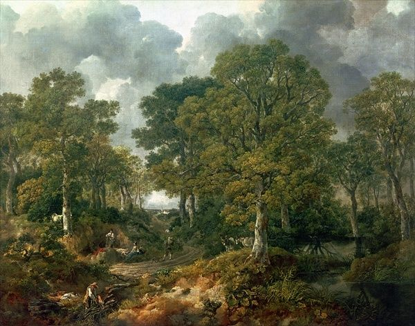 BAL99406 Gainsborough's Forest ('Cornard Wood'), c.1748 (oil on canvas) by Gainsborough, Thomas (1727-88); 121.9x154.9 cm; National Gallery, London, UK; English, out of copyright