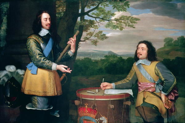 BAL99922 Portrait of Charles I (1600-49) and Sir Edward Walker (1612-77) by English School, (17th century); 151
