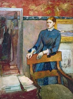 Helene Rouart in her Father's Study, c.1886 (oil on canvas)