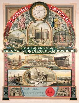 National Union, Gas worker and General Labourers, 1889 (colour litho)