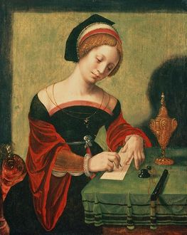 Portrait of a Lady as the Magdalen (tempera on panel)