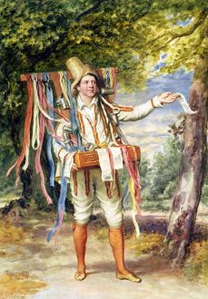 The Ribbon Seller, 1874 (w/c on paper)