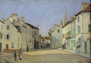 Rue de la Chaussee at Argenteuil, 1872 (oil on canvas)