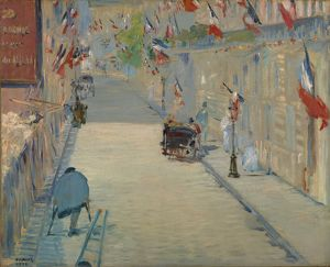 The Rue Monsier with Flags, 1878 (oil on canvas)
