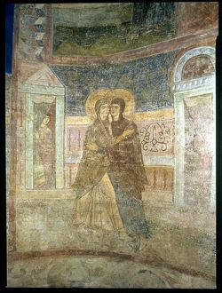 The Visitation, detail from the chapel interior (fresco)
