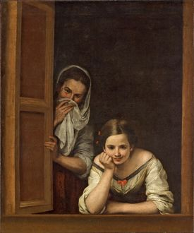 Women from Galicia at the Window, c.1655-1660 (oil on canvas)